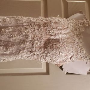 White size 8 pageant prom dress.